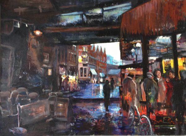 "Borough Market, Winter Afternoon 24"" x18"""