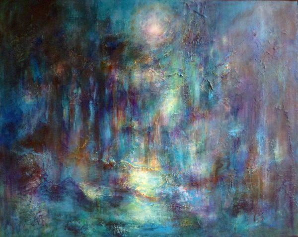 """Moonlight at Crinan 30"""" x 42"""""""